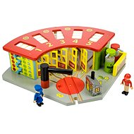 Wooden train sets - Exclusive depot for 5 trains