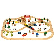 Wooden Railways - Town and Village 101 Parts - Train Set