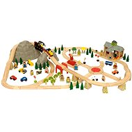 Wooden train tracks - 112 way mountain road - Train Set