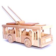 Wooden Toys - Natural wooden trolley