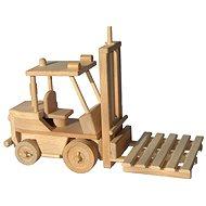 Drevené hračky - Vysokozdvižný vozík - Drevený model