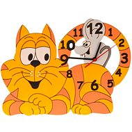 Children's wooden clocks - Cat with mouse