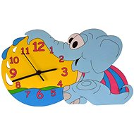 Children's wooden clock - Elephant