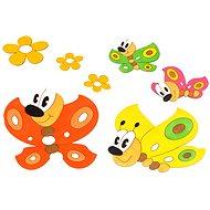 Dřevěná dekorace - Sestavy dekorací motýlci a kytičky