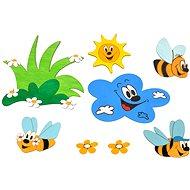 Dřevěná dekorace - Sestavy dekorací louka a včelky