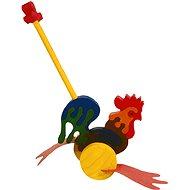 Drevená ťahacie hračka - Plácačka Kohút - Ťahacia hračka