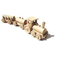 Natural wooden toy train - Freight Train