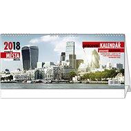 BALOUŠEK pracovní kalendář 2018 - evropská města - Stolní kalendář