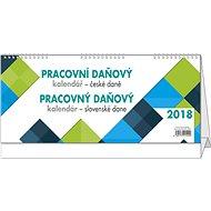 BALOUŠEK pracovní kalendář 2018 - daně CZ/SK - Stolní kalendář