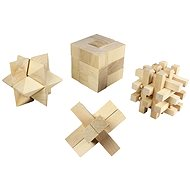 Wooden jigsaw puzzle with 4 sets
