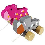 Zvieratko na povrázku Nosorožec & Hroch - Ťahacia hračka