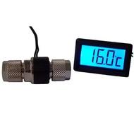 ALPHACOOL-Thermometer mit LCD-Anzeige für 10/8 mm Schlauch mit roter Hintergrundbeleuchtung
