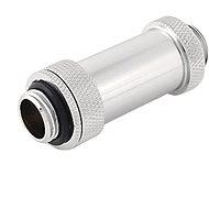 """Bitspower Silver Shining Dual G1 / 4 """"Aqua Link Pipe II (41-69 mm)"""