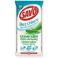 SAVO chlorine-free universal cleaning wipes Eucalyptus 30 pieces
