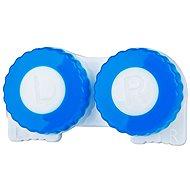 Contact Lens Case Blue/White L + R