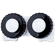 Contact Lens Case Black/White L + R
