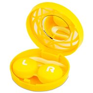 Cassettes circle ornament - Yellow: housing, tweezers and mirror
