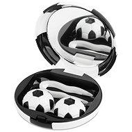 Kazetka Fotbalový míč - černá: pouzdro, pinzeta a zrcátko