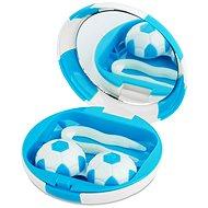 Kazetka Fotbalový míč - modrá: pouzdro, pinzeta a zrcátko
