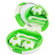 Kazetka Fotbalový míč - zelená: pouzdro, pinzeta a zrcátko