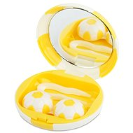 Kazetka Fotbalový míč - žlutá: pouzdro, pinzeta a zrcátko