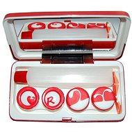 Dvojitá sestava červená - Pouzdro na kontaktní čočky