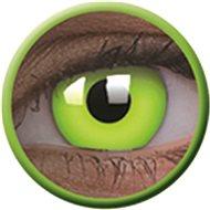 ColourVue Crazy čočky UV svítící - Glow Green (2 ks roční) - nedioptrické - Kontaktní čočky
