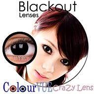 ColourVUE dioptrické Crazy Lens (2 šošovky), farba: Blackout