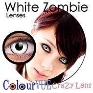 ColourVUE dioptrické Crazy Lens (2 šošovky), farba: White Zombie
