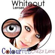 ColourVUE dioptrische Kontaktlinsen Crazy Lens (2 Linsen), Farbe: Whiteout, Dioptrien: -4.00