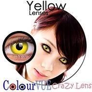 ColourVUE dioptrické Crazy Lens (2 šošovky), farba: Yellow