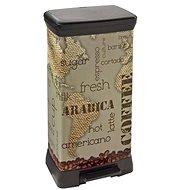 Curver Odpadkový koš DECOBIN pedal COFEE - Odpadkový koš