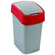 Curver Odpadkový koš 50l stříbrná/červená Flipbin - Odpadkový koš