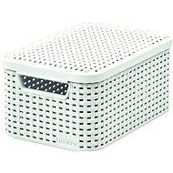 Curver storage box with lid RATTAN style2 S