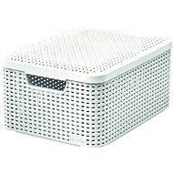 Curver storage box with lid RATTAN style2 M - Storage Box