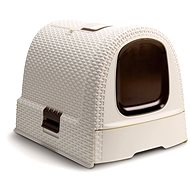 Curver WC für Katzen Rattan 00.615-P16 -