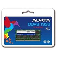 A-DATA 4GB SO-DIMM DDR3 1333MHz CL9 - System Memory