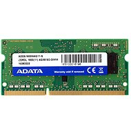 ADATA SO-DIMM DDR3 1600MHz CL11 4 GB Single Tray