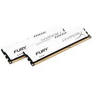 Kingston 8GB KIT DDR3 1600MHz CL10 HyperX Fury Serie weiß