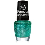 DERMACOL Nail Polish With Effect - Petrol Stardust 5 ml - Lak na nehty