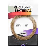 3DSimo Filament WOOD - hnědá 15m
