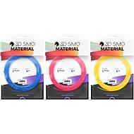 3DSimo Filament HIPS - modrá, růžová, žlutá 15m - Tisková struna