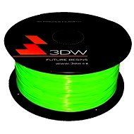 3D World PLA 1.75 mm 1 kg fluozelená