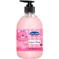 On Line Kids Time tekuté mýdlo 500 ml - jahoda mýdlo