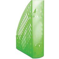 DONAU 70mm transparentná / zelený - Stojan na časopisy