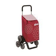 GIMI Tris Floral červený nákupní vozík 56 l - Wagen