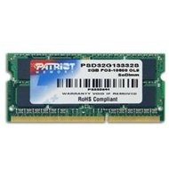PATRIOT 2GB SO-DIMM DDR3 1333MHz CL9 Signature Line
