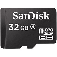 SanDisk MicroSDHC 32GB Class 4 - Paměťová karta