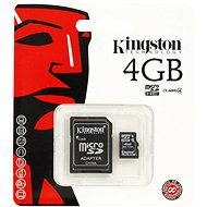 Kingston Micro SDHC 4GB Class 4 + SD Adapter