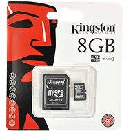 Kingston Micro SDHC 8GB Class 4 + SD adaptér - Paměťová karta